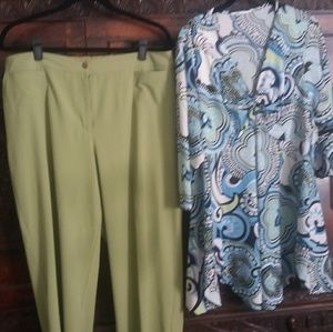 Chicos Size 3 Pants and Top